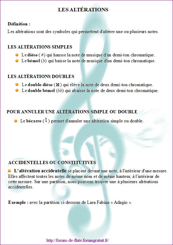 3) LES ALTÉRATIONS Alterations1