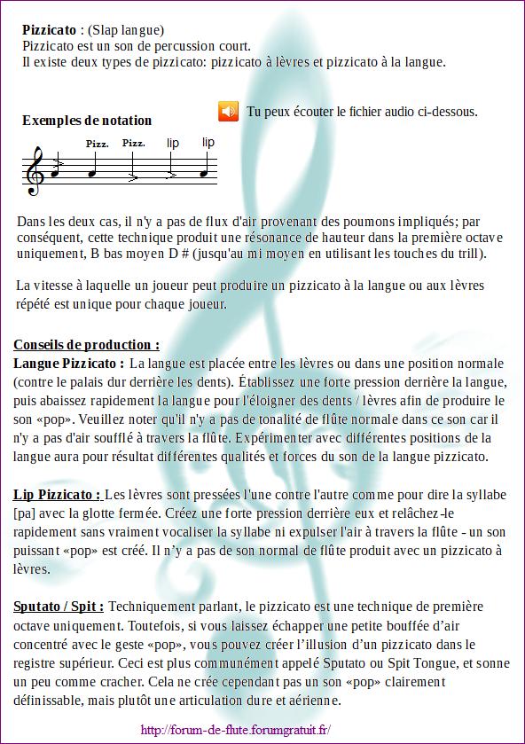 5) PIZZICATO / SLAP TONGUE (Pizzicato / Langue qui claque) Pizzicato1